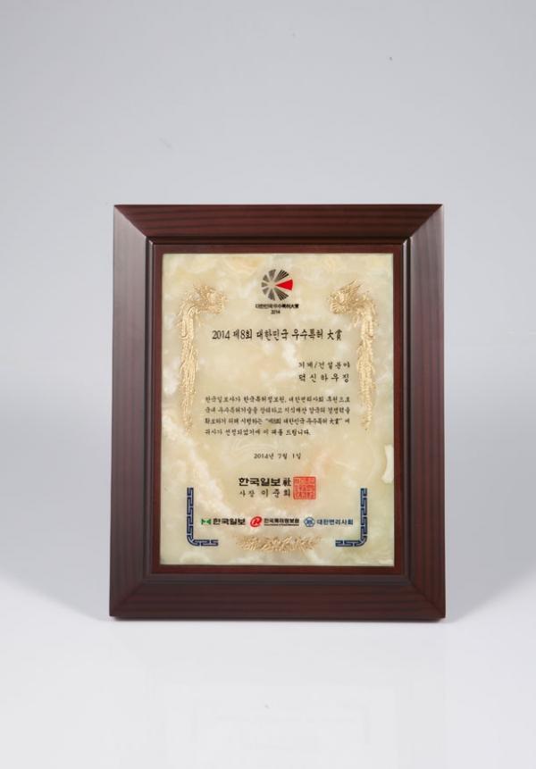 2014 제8회 대한민국 우수특허 대상